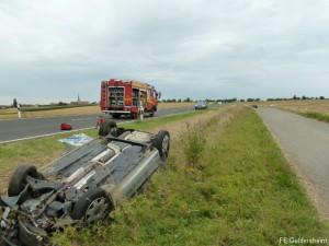 Verkehrsunfall Person eingeklemmt