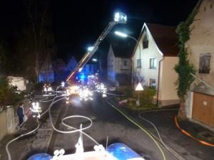 Wohnhausbrand Wipfeld