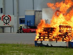 Gefahrgutübung Röthlein - Feuerwehr Geldersheim