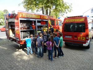 Ferienspaßaktion - Feuerwehr Geldersheim