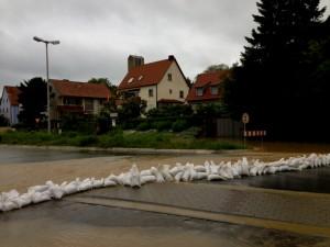 Hochwasser in Niederwerrn