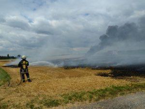 Ackerbrand zwischen Geldersheim und Schnackenwerth