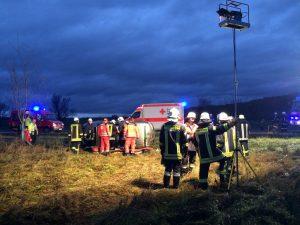 Verkehrsunfall zwischen Euerbach und Obbach