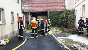 Scheunenbrand in Theilheim