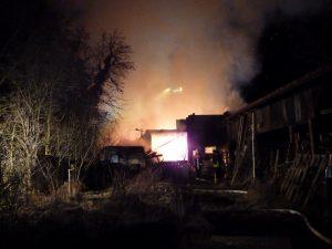 Scheunenbrand in Essleben
