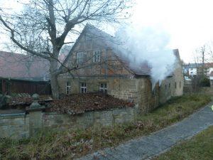 Brand Nebengebäude Euerbach