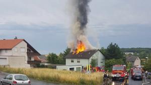Brand Dachstuhl Schleerieth