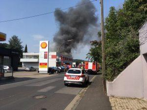Explosion und Werkstattbrand Dittelbrunn