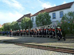 Maibaumaufstellung 2018 - Feuerwehr Geldersheim