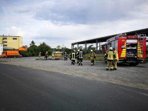 Brand LKW mit Gefahrgut Gochsheim