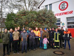Christbaumsammlung 2019 - Feuerwehr Geldersheim