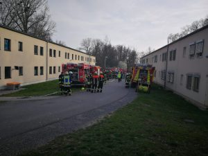 Küchenbrand Gemeinschaftsunterkunft