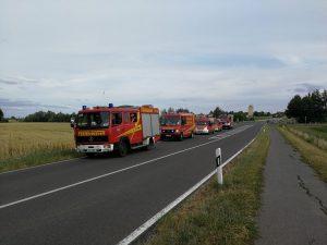 Waldbrandübung Werneck - Feuerwehr Geldersheim