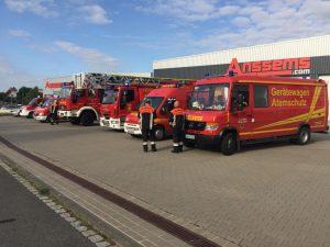 Brand in Abfallwirtschaftsbetrieb Bergrheinfeld
