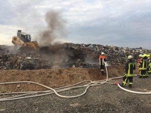 Brand Abfallhaufen Rothmühle