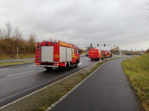 Ölspur A71 in Richtung Geldersheim
