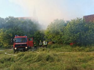 Scheune in Vollbrand Falkenstein