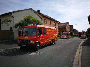 Brand hohes Gebäude – Rügshofen