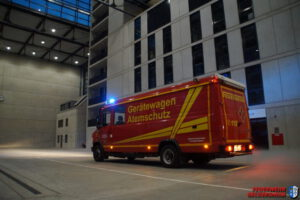 Abfallhaufenbrand bei Entsorgungsbetrieb Bergrheinfeld