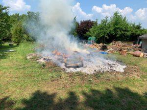 Brand Unrat Fichtenwäldchen